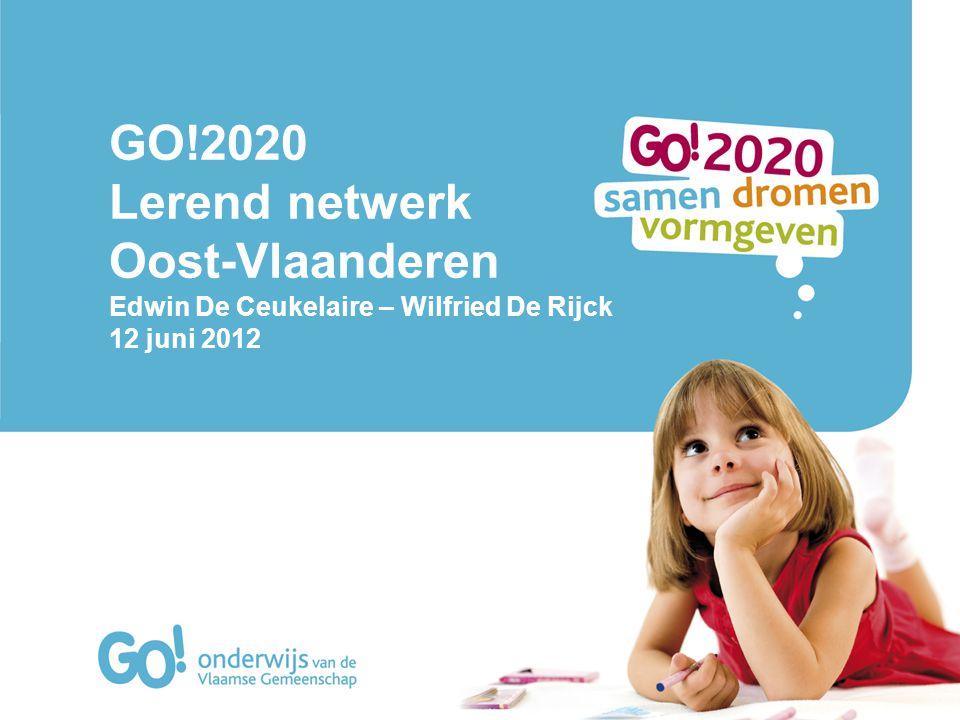 GO!2020 Lerend netwerk Oost-Vlaanderen Edwin De Ceukelaire – Wilfried De Rijck 12 juni 2012