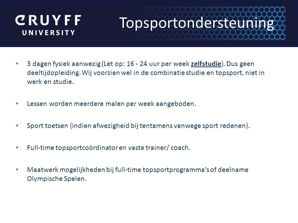 3 dagen fysiek aanwezig (Let op: 16 - 24 uur per week zelfstudie).