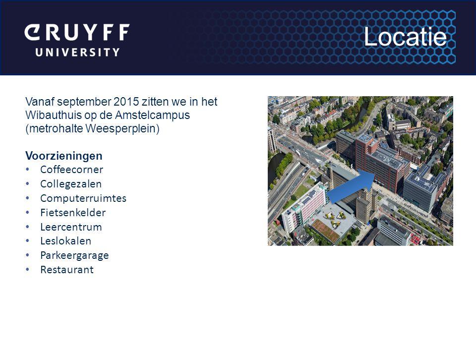 Vanaf september 2015 zitten we in het Wibauthuis op de Amstelcampus (metrohalte Weesperplein) Voorzieningen Coffeecorner Collegezalen Computerruimtes