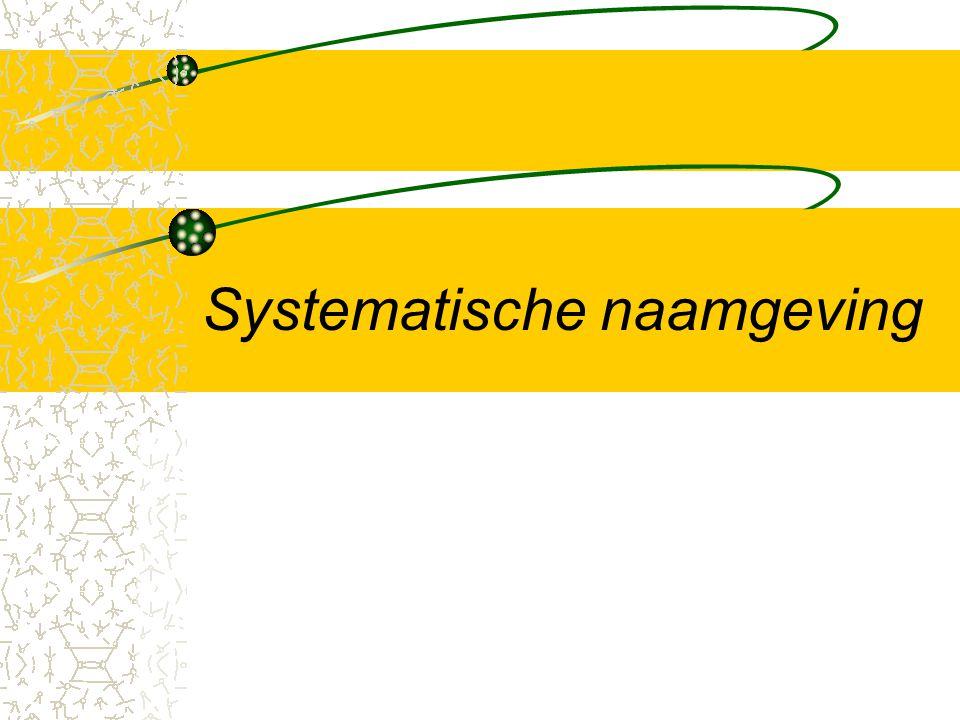 Systematische naamgeving