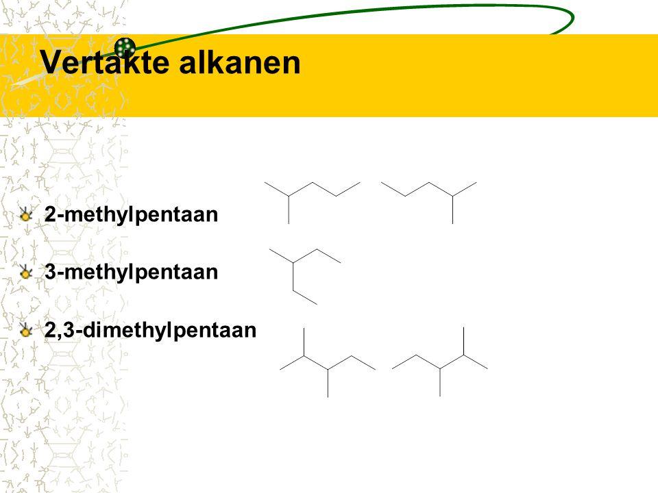 Alle isomeren van pentaan pentaan 2-methylbutaan 2,2-dimethylpropaan