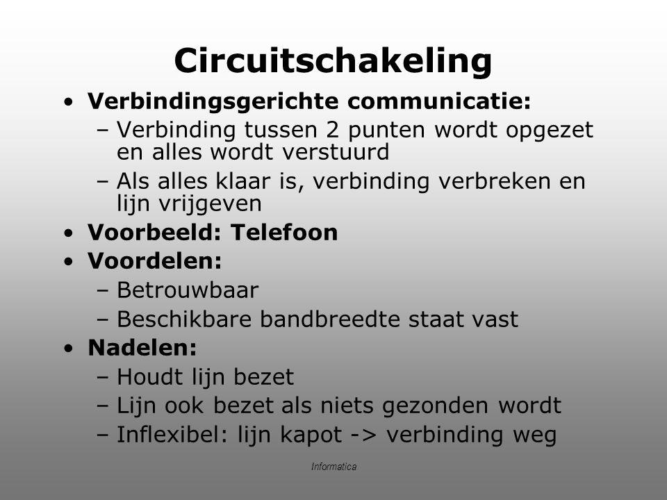 Informatica Circuitschakeling (2) 01101101