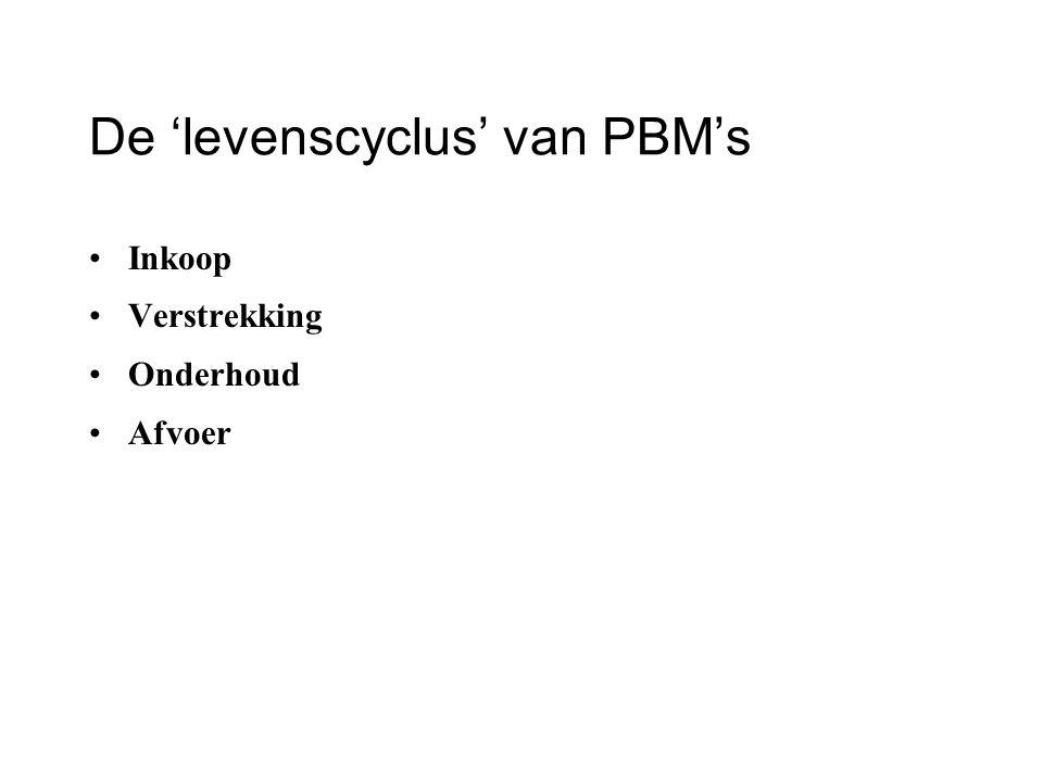 De 'levenscyclus' van PBM's Inkoop Verstrekking Onderhoud Afvoer