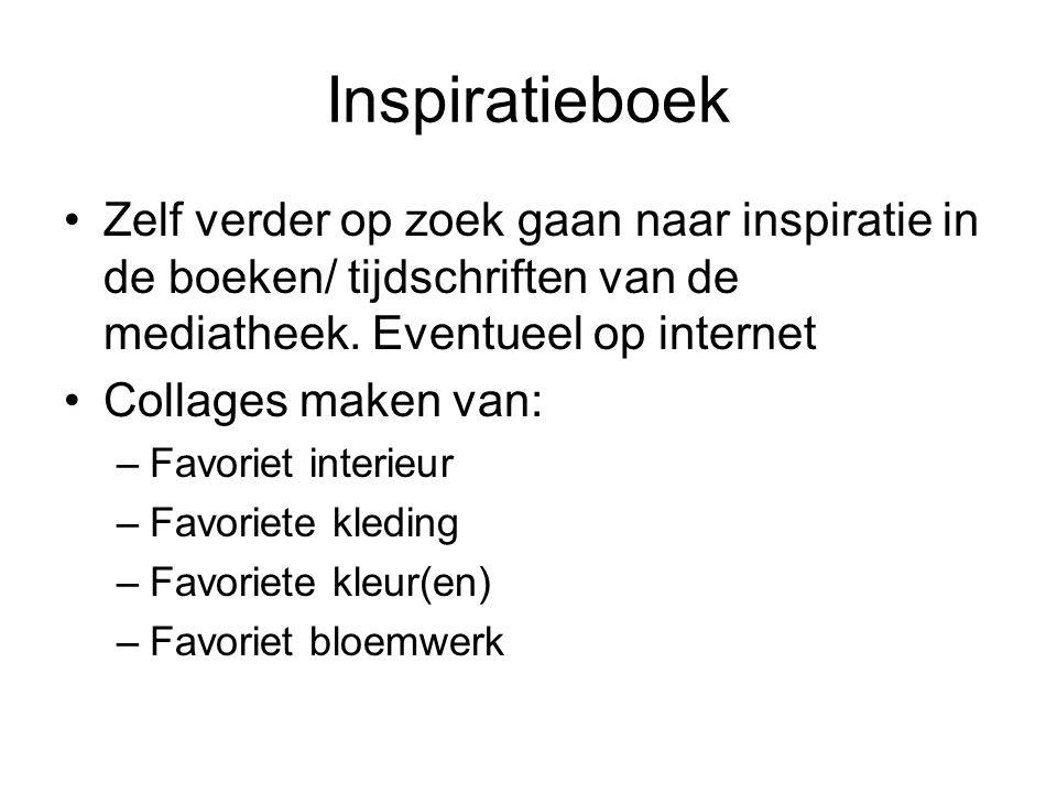 Inspiratieboek Zelf verder op zoek gaan naar inspiratie in de boeken/ tijdschriften van de mediatheek. Eventueel op internet Collages maken van: –Favo
