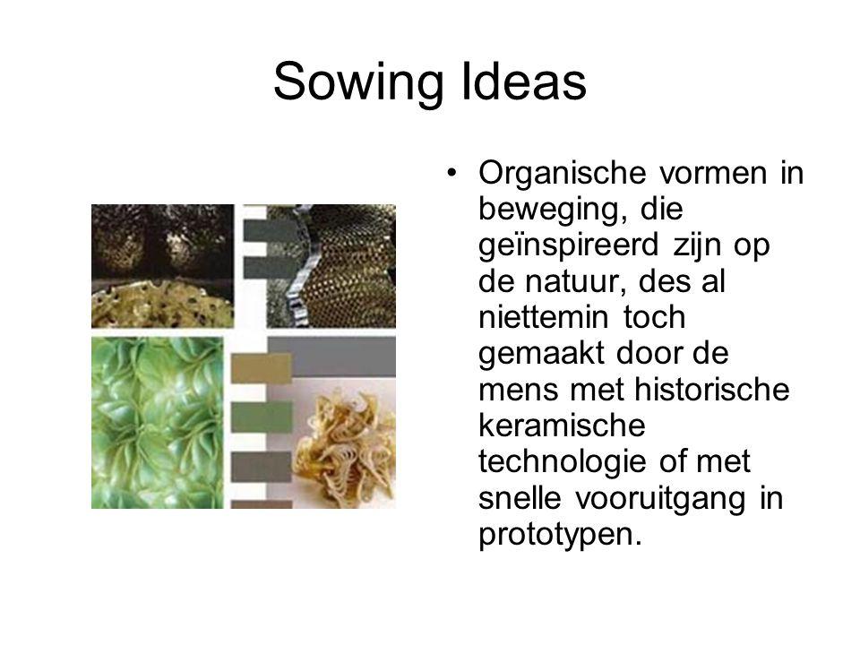 Sowing Ideas Organische vormen in beweging, die geïnspireerd zijn op de natuur, des al niettemin toch gemaakt door de mens met historische keramische
