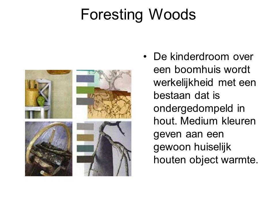 Foresting Woods De kinderdroom over een boomhuis wordt werkelijkheid met een bestaan dat is ondergedompeld in hout. Medium kleuren geven aan een gewoo