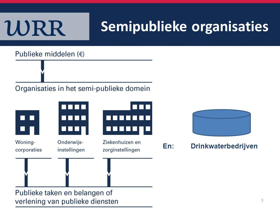 Semipublieke organisaties 3 En: Drinkwaterbedrijven