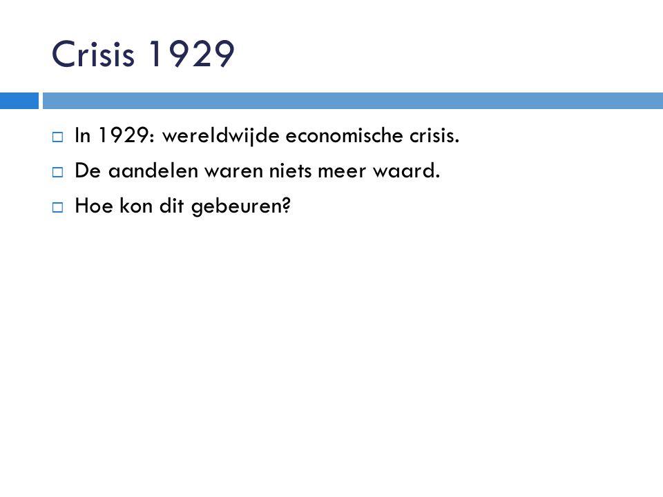 Economische crisis in NL:  NL was niet voorbereid op een crisis  1934: 25% heeft geen werk.
