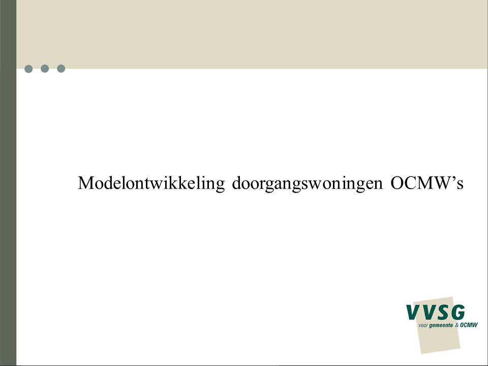 Modelontwikkeling doorgangswoningen OCMW's