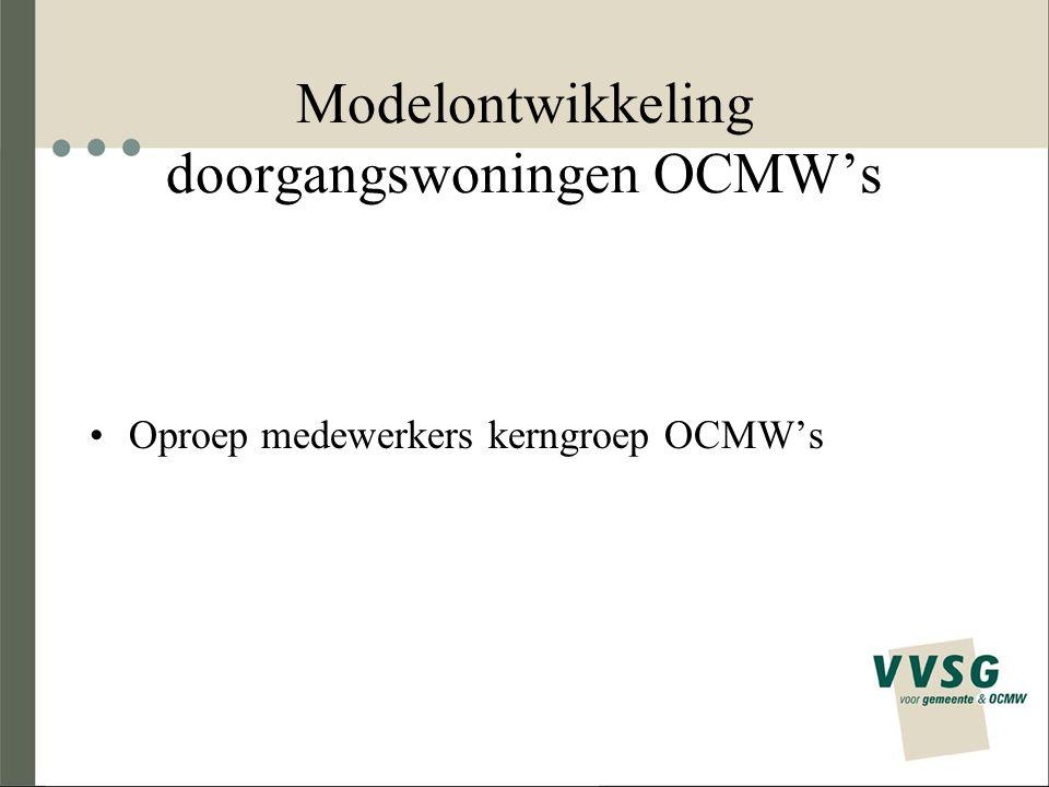 Oproep medewerkers kerngroep OCMW's