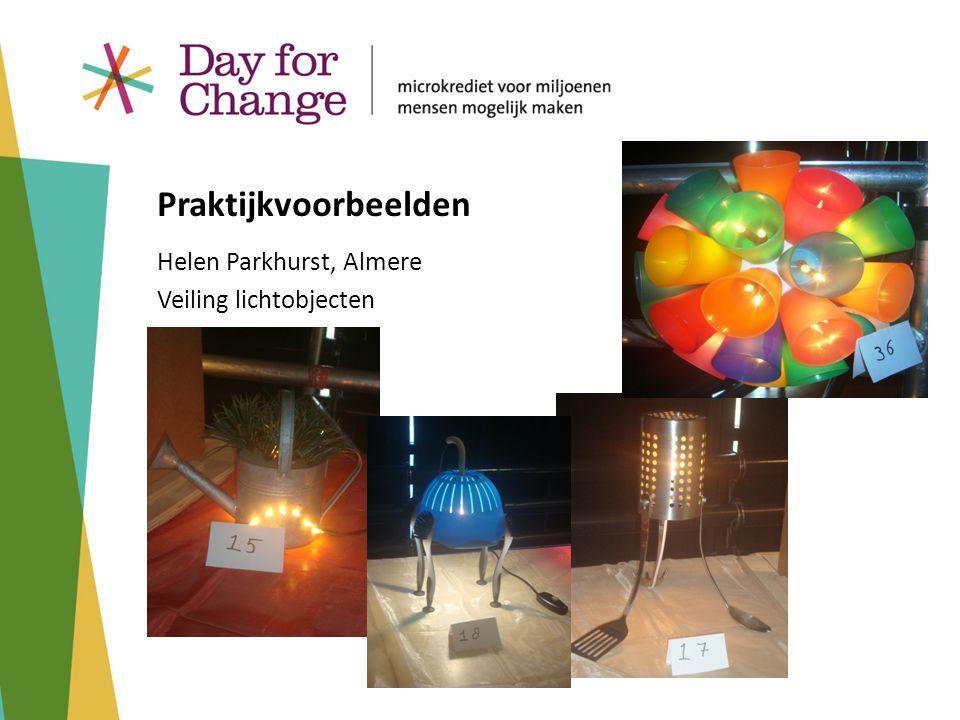 Helen Parkhurst, Almere Veiling lichtobjecten Praktijkvoorbeelden