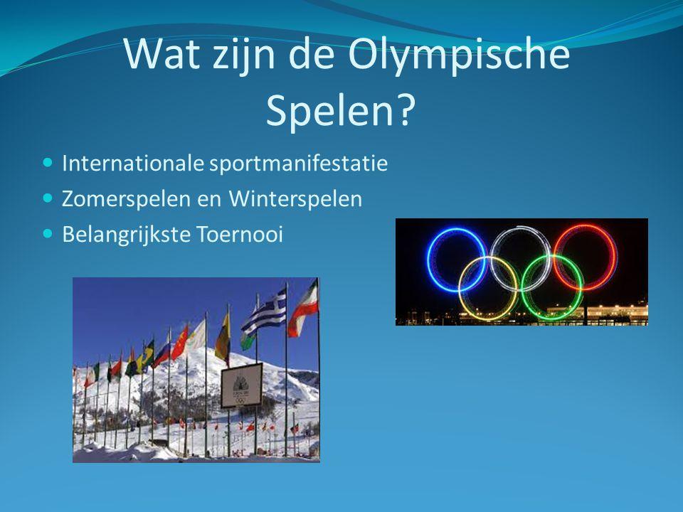 Wat zijn de Olympische Spelen.