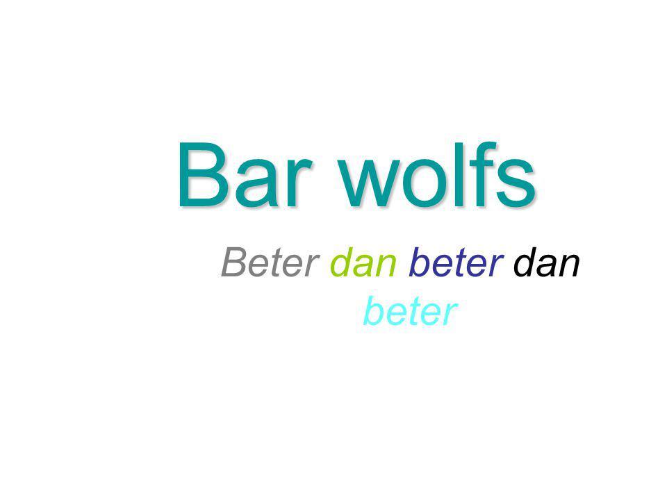 Bar wolfs Beter dan beter dan beter