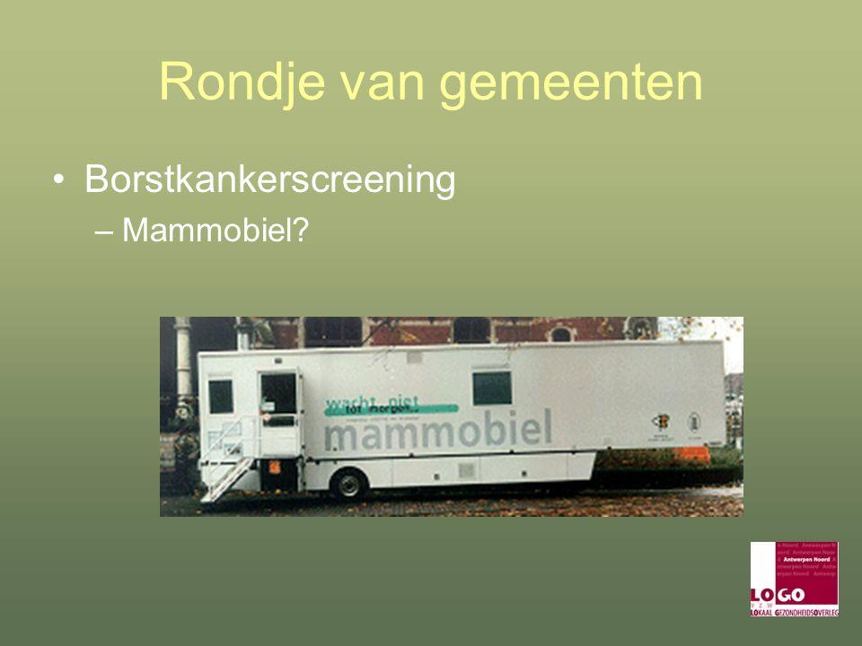 Rondje van gemeenten Borstkankerscreening –Mammobiel