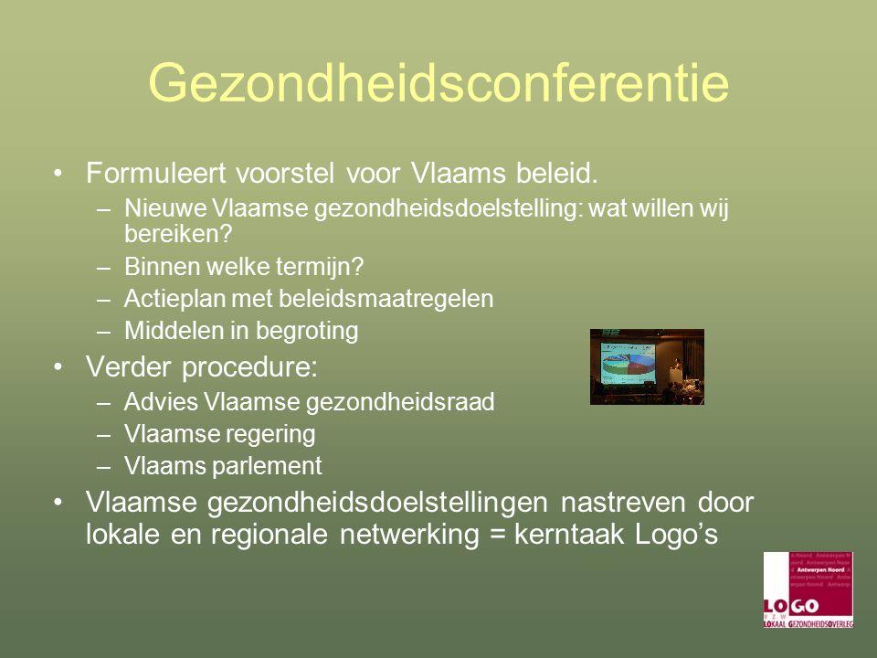 Gezondheidsconferentie Formuleert voorstel voor Vlaams beleid.