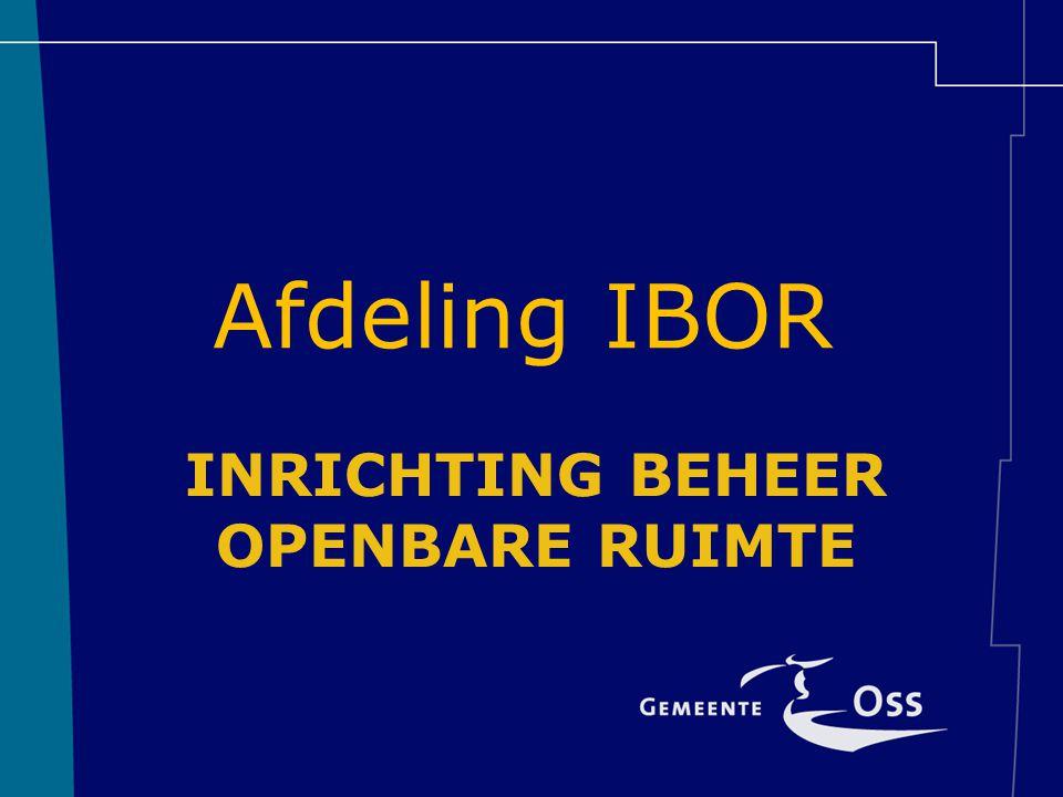 INRICHTING BEHEER OPENBARE RUIMTE Afdeling IBOR