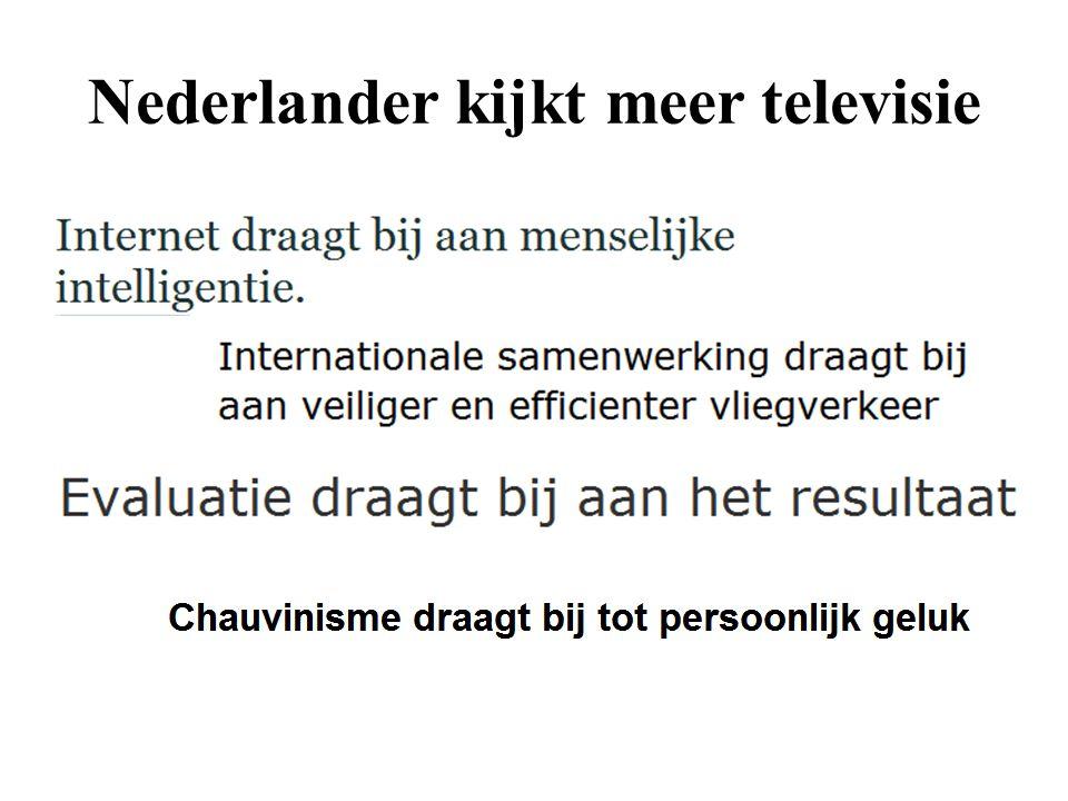 Nederlander kijkt meer televisie