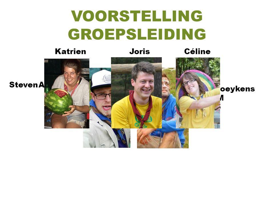 VOORSTELLING GROEPSLEIDING Steven Aelbrecht D'Olmen JIN '96 Jelle Boeykens Kriko-M JIN '95 KatrienJorisCéline