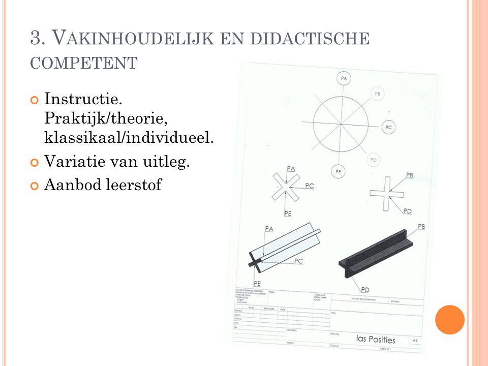 4.O RGANISATORISCH COMPETENT Lesvoorbereiding Samenwerking ROC- KTS Planning instructie.