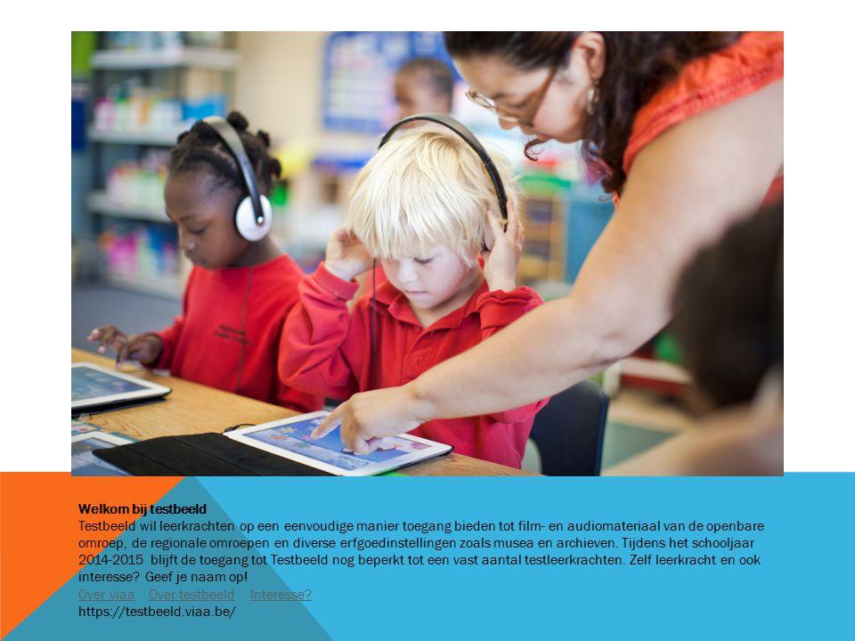 Welkom bij testbeeld Testbeeld wil leerkrachten op een eenvoudige manier toegang bieden tot film- en audiomateriaal van de openbare omroep, de regionale omroepen en diverse erfgoedinstellingen zoals musea en archieven.