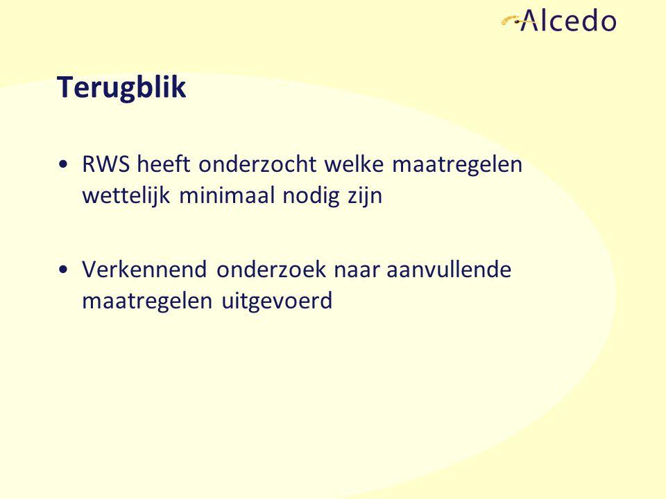 Maatregelenonderzoek RWS Voorwaarden voor onderzoek naar maatregelen: –Geluidsproductieplafond overschreden, of –Saneringssituatie