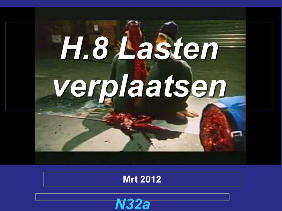 H.8 Lasten verplaatsen N32a Mrt 2012