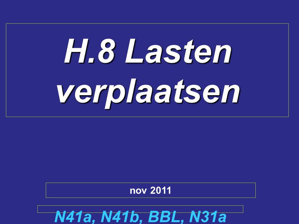 H.8 Lasten verplaatsen N41a, N41b, BBL, N31a nov 2011