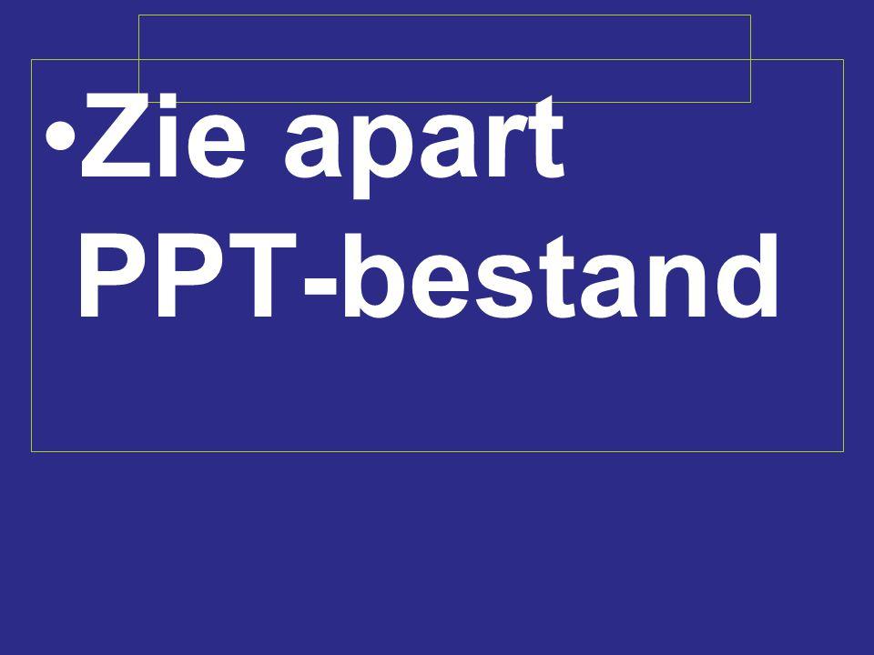 Zie apart PPT-bestand