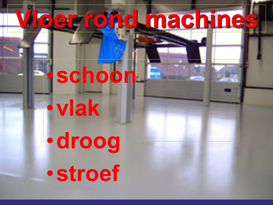 Vloer rond machines schoon vlak droog stroef