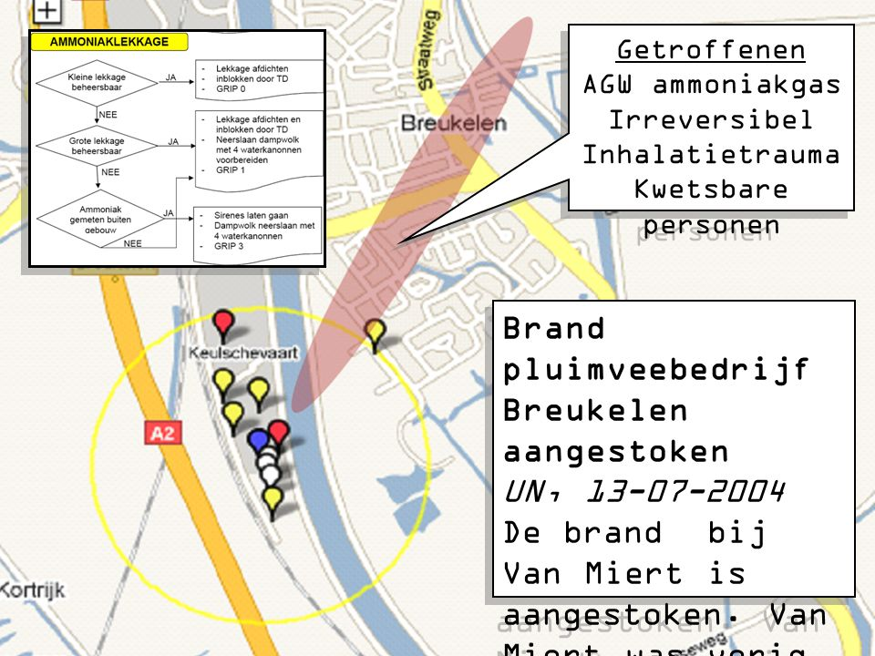 Brand pluimveebedrijf Breukelen aangestoken UN, 13-07-2004 De brand bij Van Miert is aangestoken. Van Miert was vorig jaar ook al het slachtoffer van