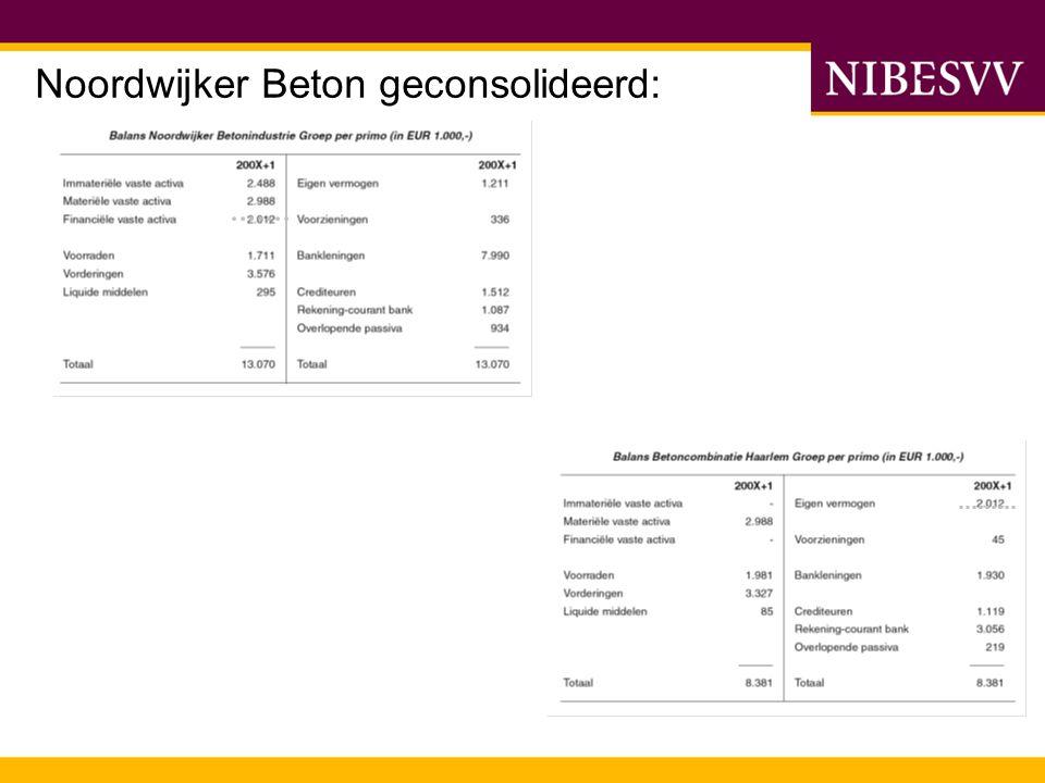 Noordwijker Beton geconsolideerd: