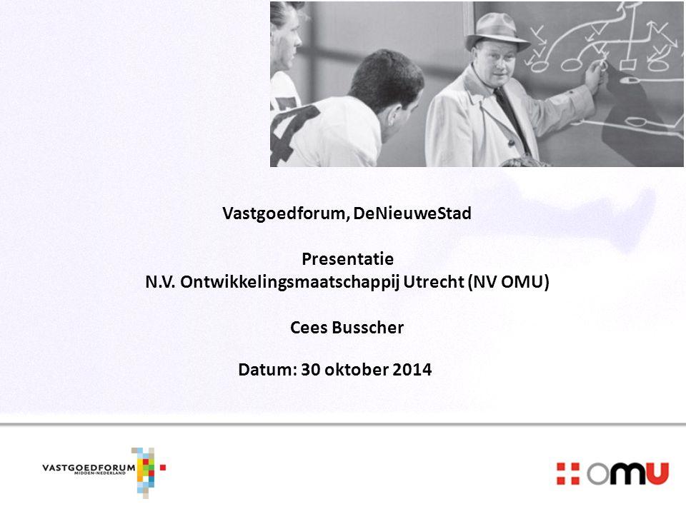 Opbouw Presentatie 1. Plaatsmaken voor de nieuwe economie 2.Ontwikkelingen op de markt 3.Financieringsvormen 4.Werkwijze OMU 5.Projecten