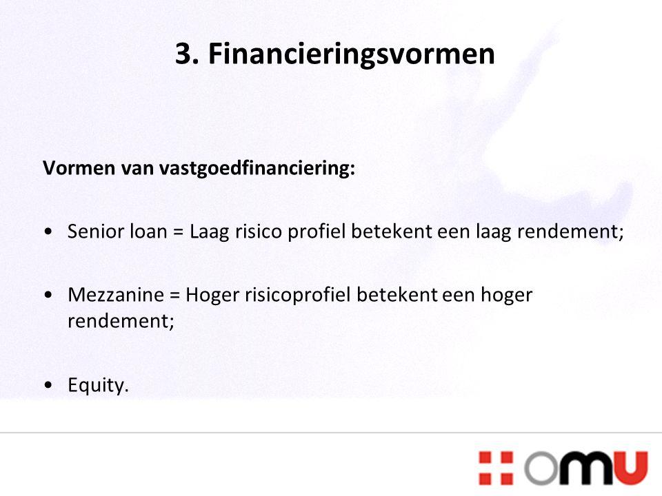 3. Financieringsvormen