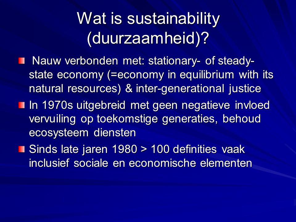 Wat is sustainability (duurzaamheid).