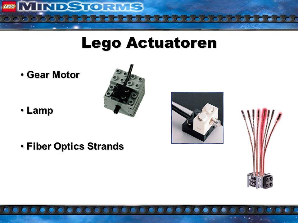 Lego Actuatoren Gear Motor Gear Motor Lamp Lamp Fiber Optics Strands Fiber Optics Strands