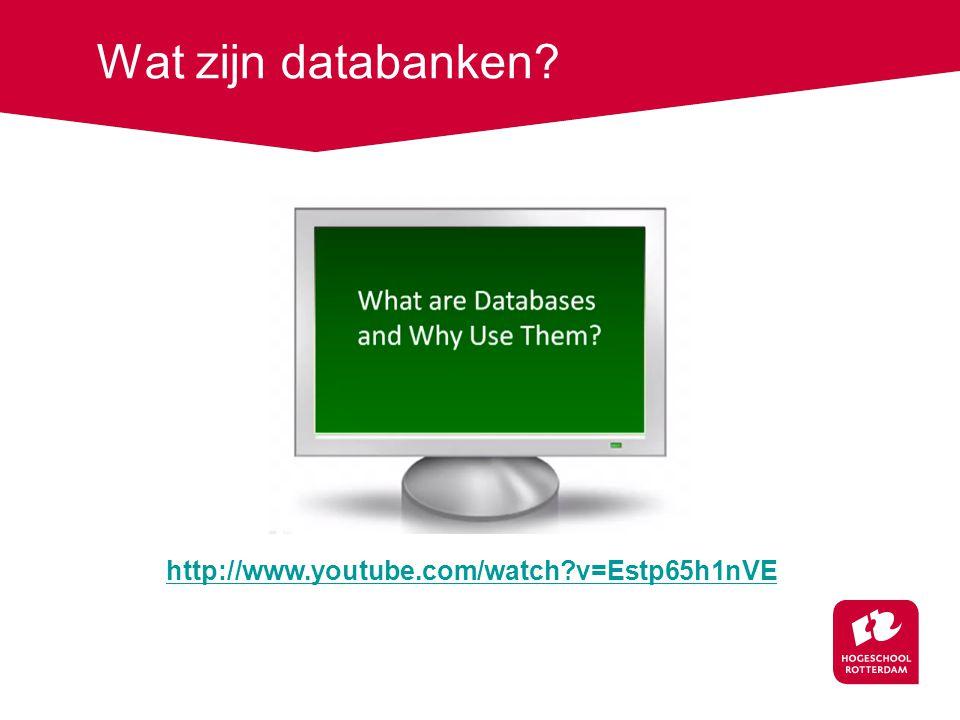 Google versus databanken