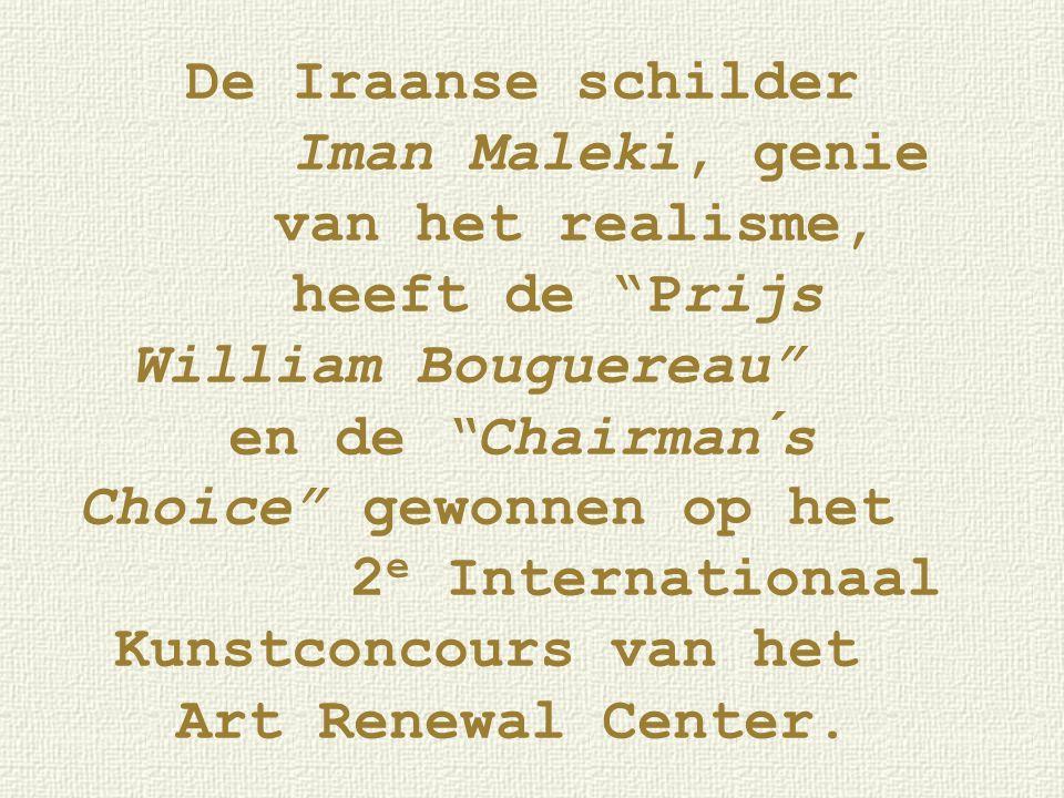 """De Iraanse schilder Iman Maleki, genie van het realisme, heeft de """"Prijs William Bouguereau"""" en de """"Chairman´s Choice"""" gewonnen op het 2 e Internation"""