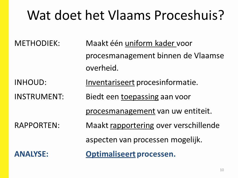 10 Wat doet het Vlaams Proceshuis.