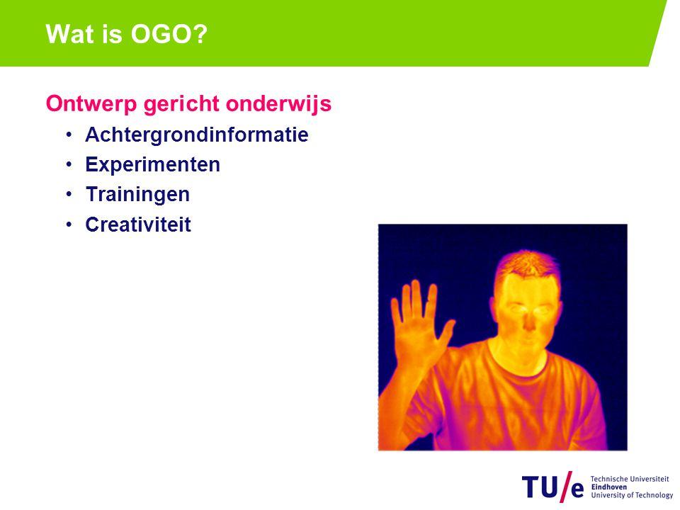 Ontwerp gericht onderwijs Achtergrondinformatie Experimenten Trainingen Creativiteit Wat is OGO?