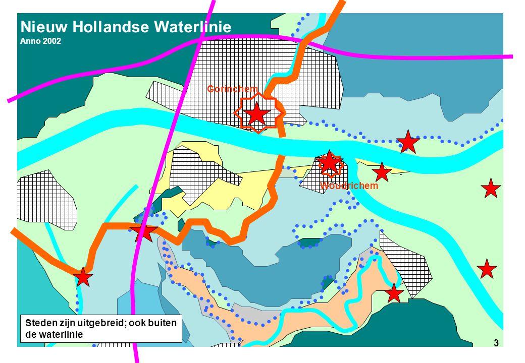 3 Nieuw Hollandse Waterlinie Anno 2002 3 Gorinchem Woudrichem Steden zijn uitgebreid; ook buiten de waterlinie