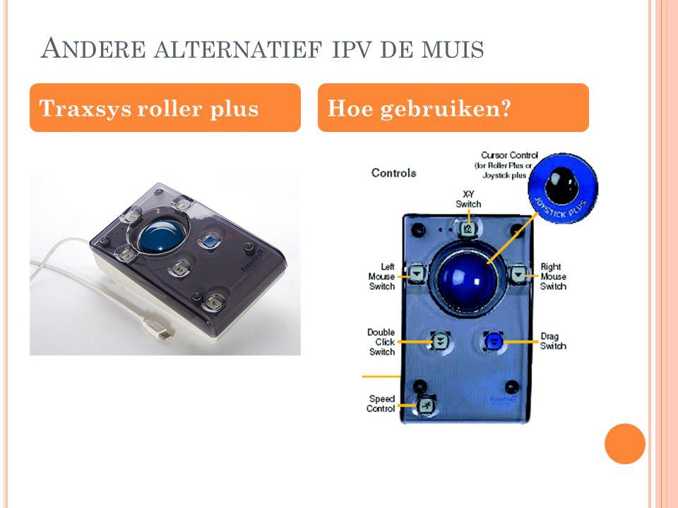 A NDERE ALTERNATIEF IPV DE MUIS Traxsys roller plusHoe gebruiken?