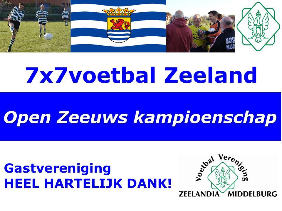 7x7voetbal Zeeland Open Zeeuws kampioenschap Gastvereniging HEEL HARTELIJK DANK!