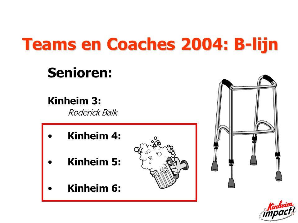 Teams en Coaches 2004: B-lijn Senioren: Kinheim 3: Roderick Balk Kinheim 4: Kinheim 5: Kinheim 6: