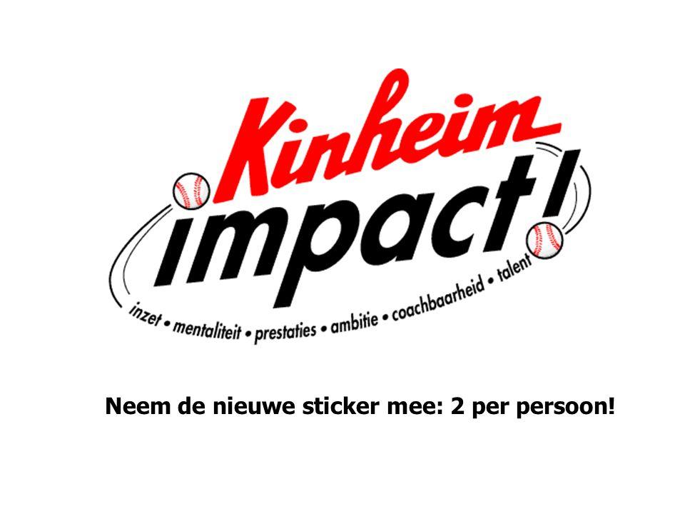 Neem de nieuwe sticker mee: 2 per persoon!