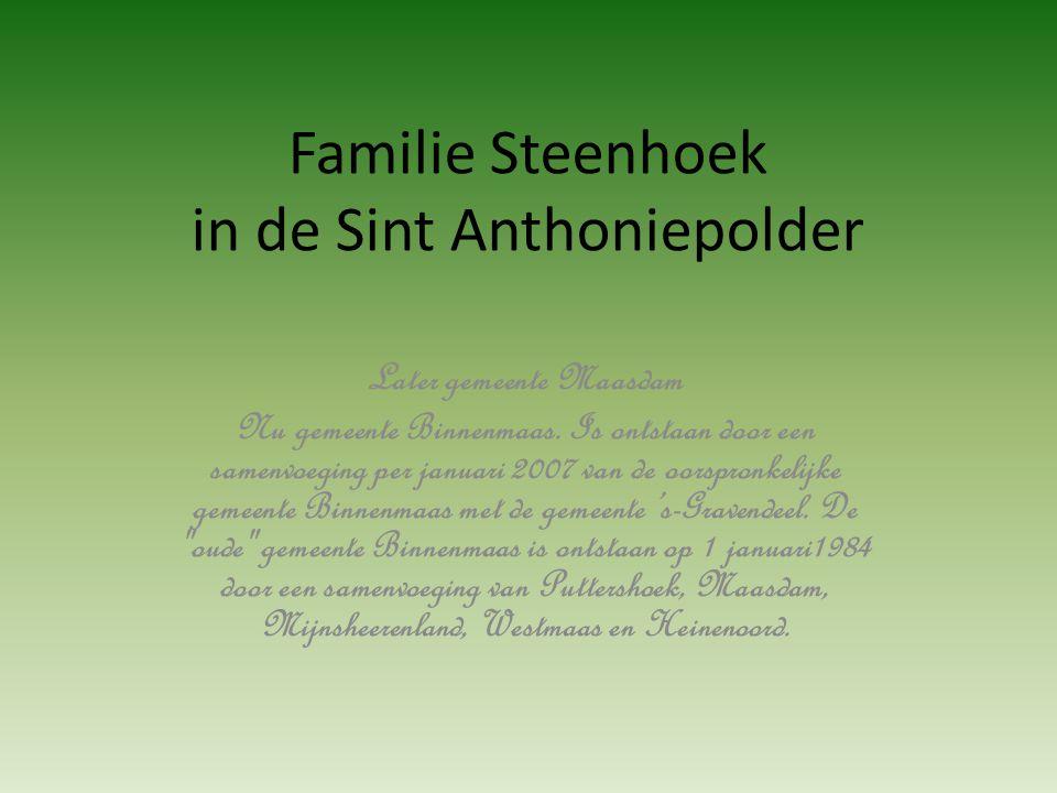 Foto's familie Steenhoek die van de Hoeksche Waard naar Vlaardingen en omgeving vertrokken