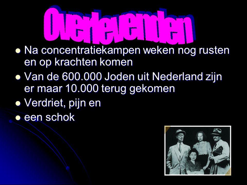 De geallieerden vielen binnen De geallieerden vielen binnen De kampen werden bevrijd De kampen werden bevrijd Op 5 mei capituleerde Duitsland en was h