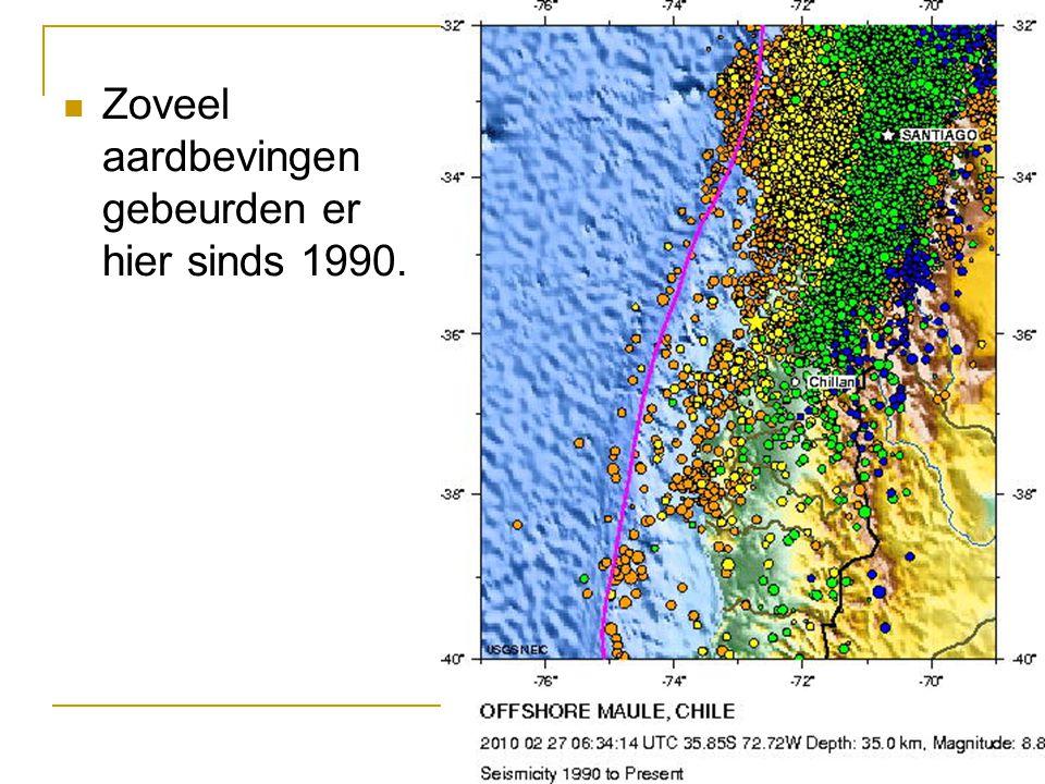 Zoveel aardbevingen gebeurden er hier sinds 1990.