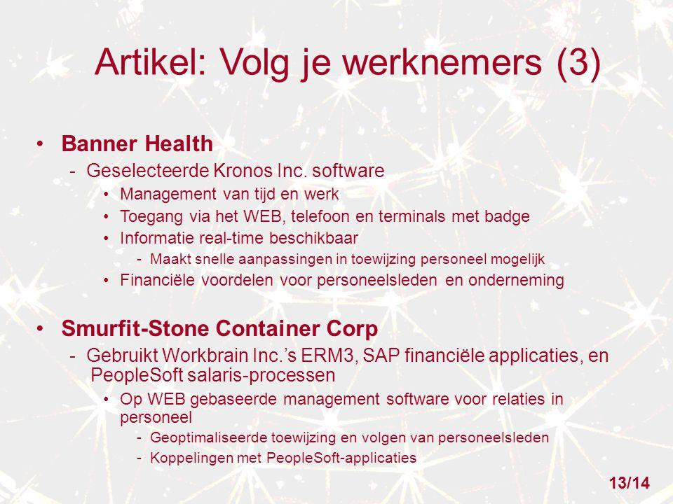 Artikel: Volg je werknemers (3) Banner Health - Geselecteerde Kronos Inc.