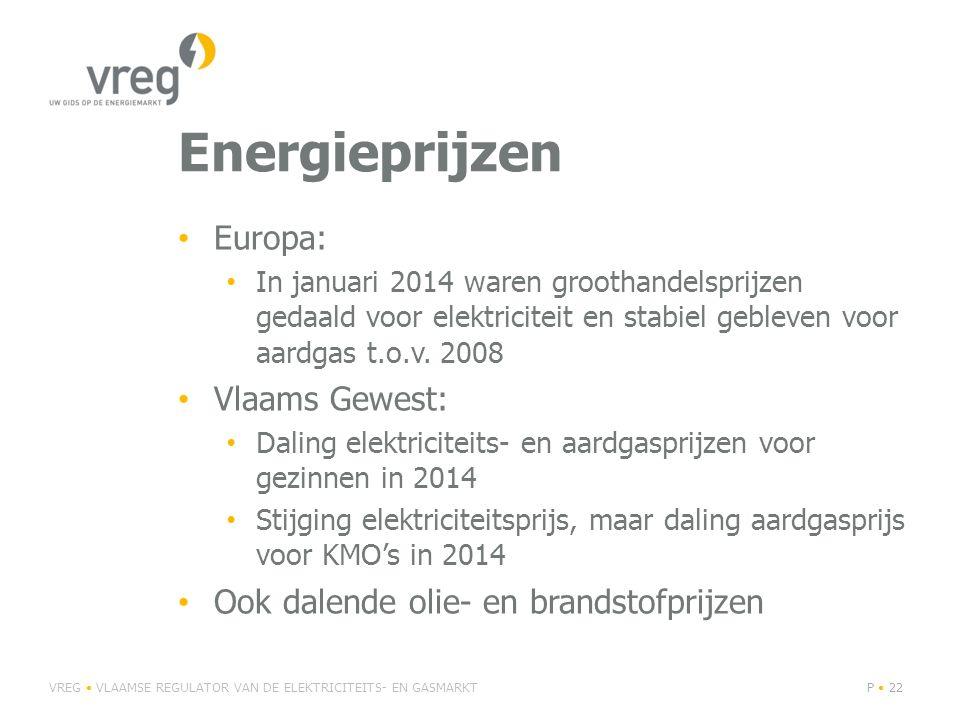 Energieprijzen Europa: In januari 2014 waren groothandelsprijzen gedaald voor elektriciteit en stabiel gebleven voor aardgas t.o.v.