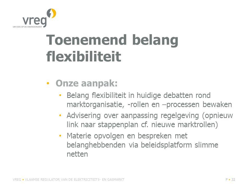 Toenemend belang flexibiliteit Onze aanpak: Belang flexibiliteit in huidige debatten rond marktorganisatie, -rollen en –processen bewaken Advisering over aanpassing regelgeving (opnieuw link naar stappenplan cf.